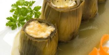 Alcachofas gratinadas con queso