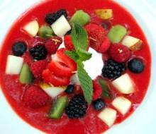 Receta de sopa fría de fresas y limón